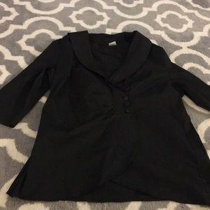 Just My Size Plus Size Black Blazer